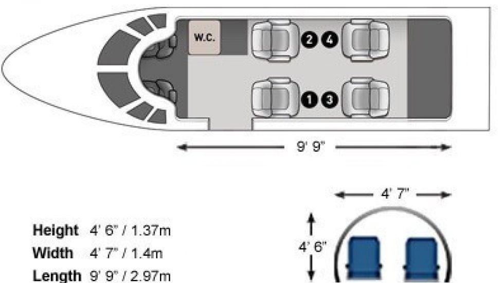 Mustang-seating-dimensions