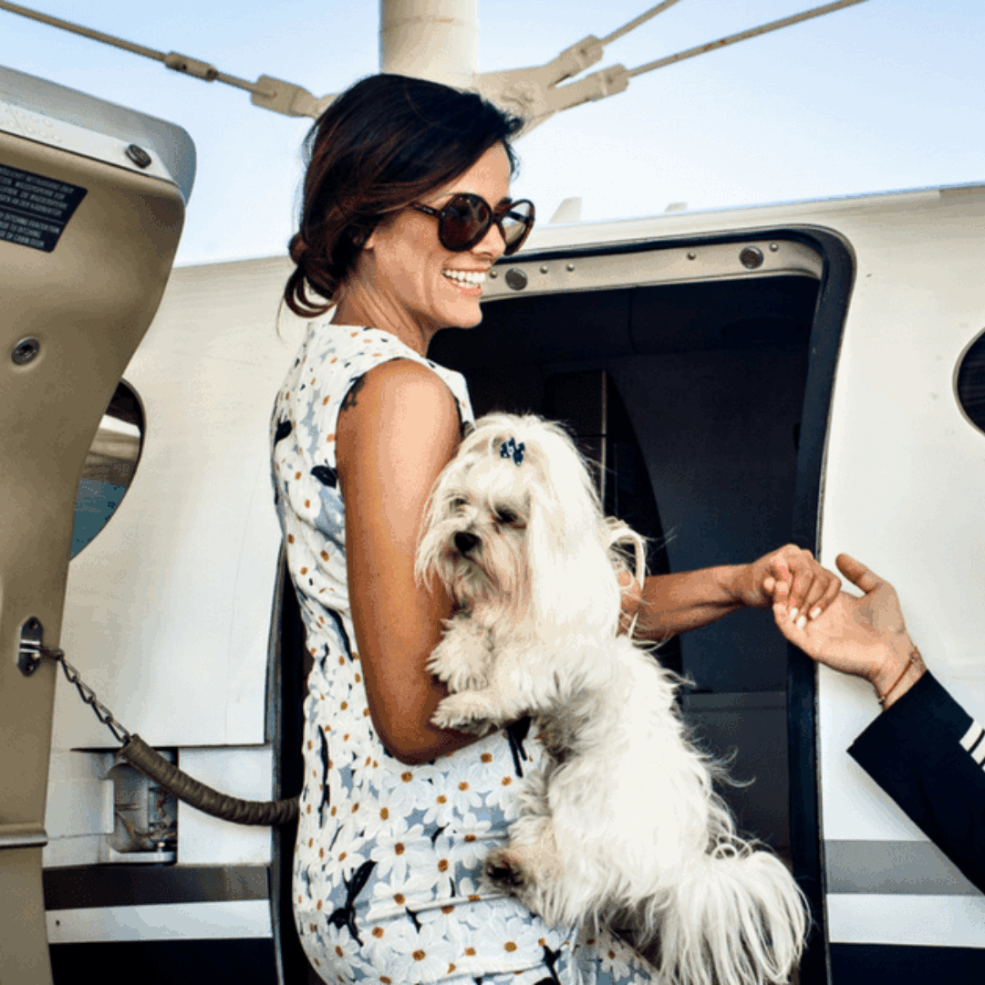Flying with pets on a GlobeAir private jet