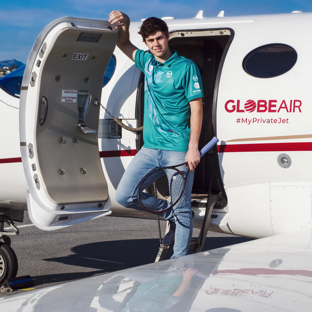 GlobeAir's brand ambassador at the Monte-Carlo Masters 2019
